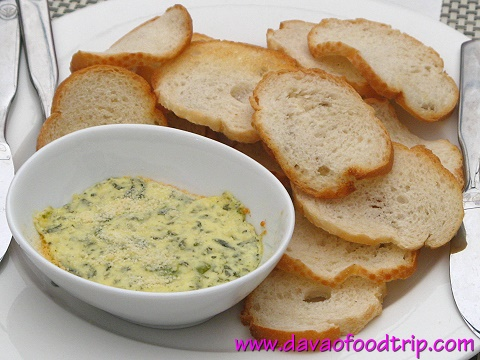 Salutti's Spinach Dip served with Crostini